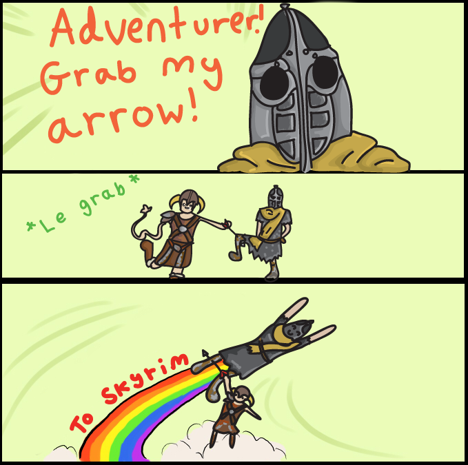 Skyrim GRAB MY: arrow by K3R0