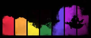Rainbow clouds - Arabian skies