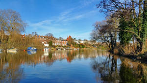 A sunny day along the River Dee