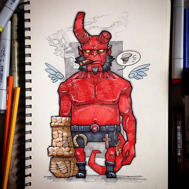 Hellboy by x-catman