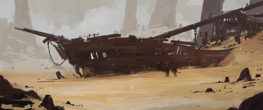 ENVIRONMENT SKETCH by Caisne