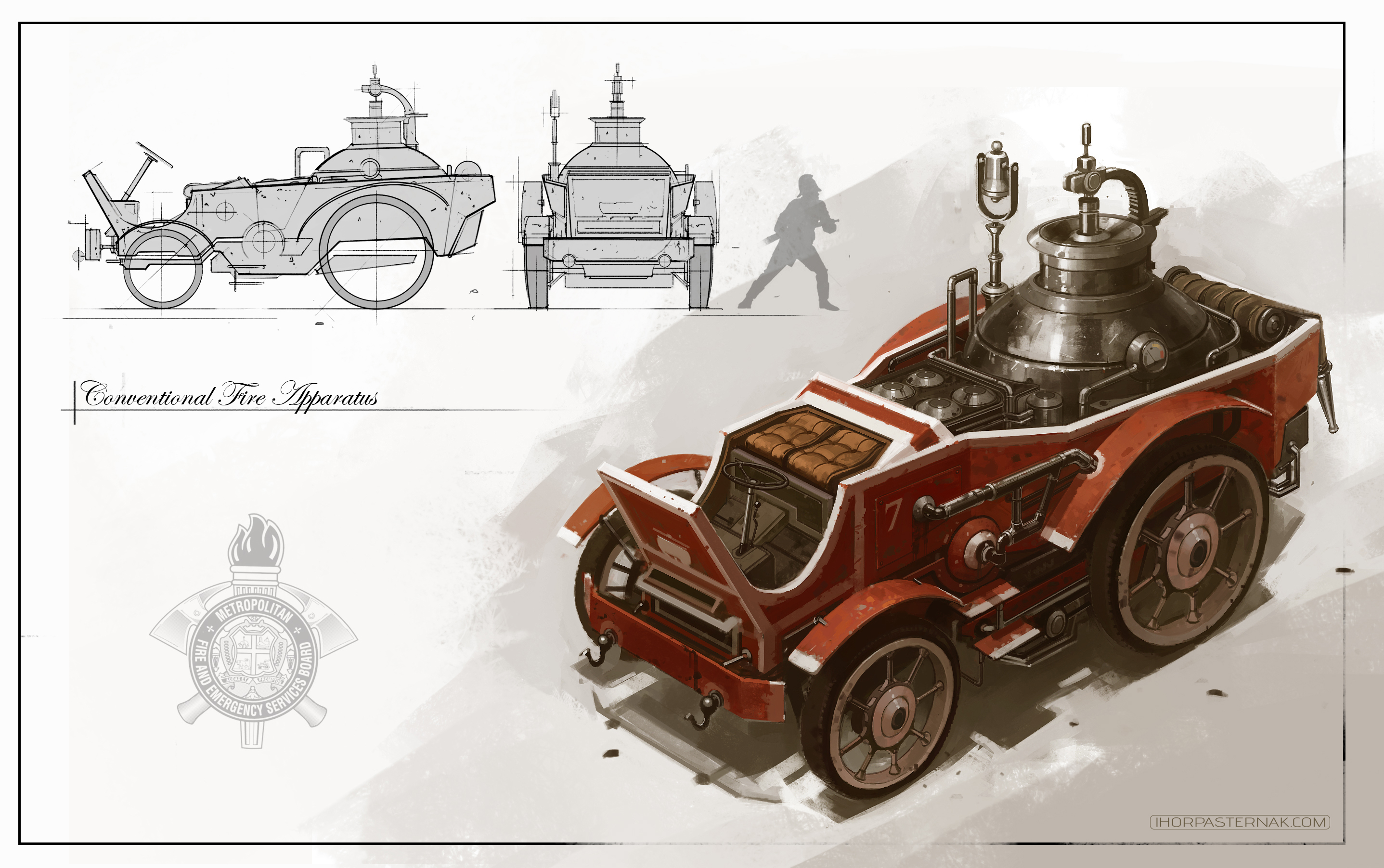VEHICLE DESIGN - FIRE ENGINE by Caisne