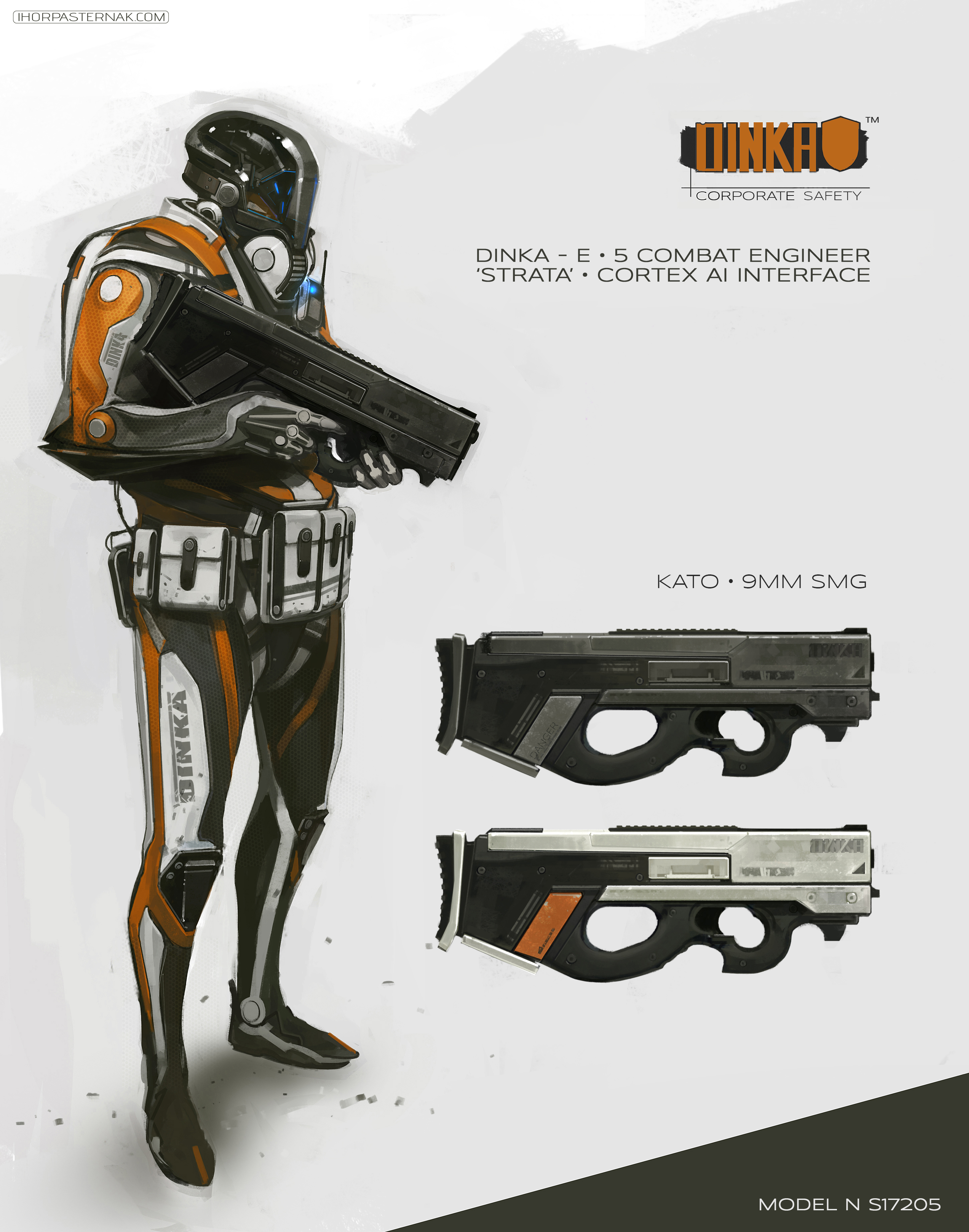 CHARACTER DESIGN  DINKA E5 COMBAT ENGINEER by Caisne