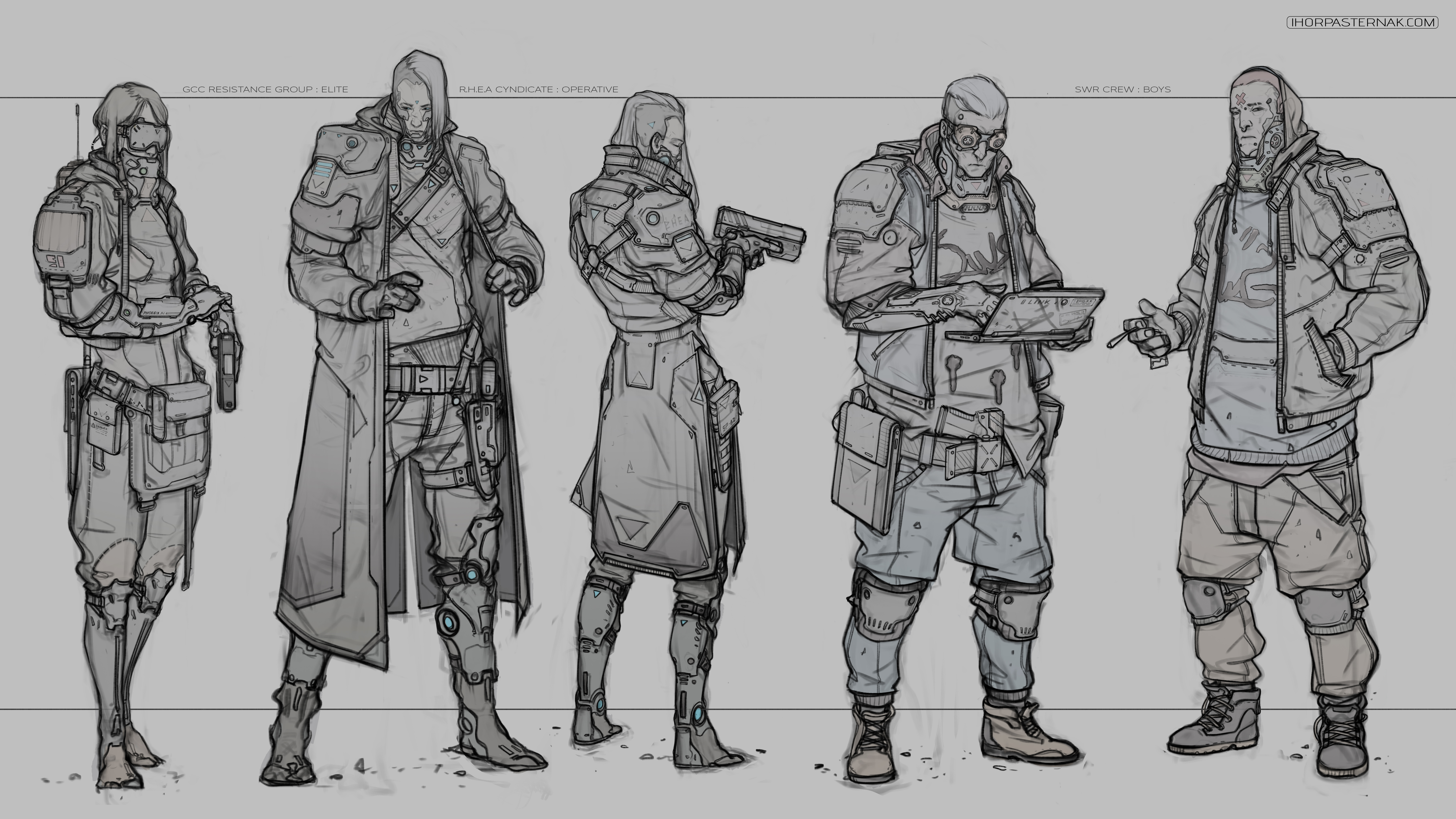 Force Character Design From Life Drawing Download : Cyberpunk characters by caisne on deviantart