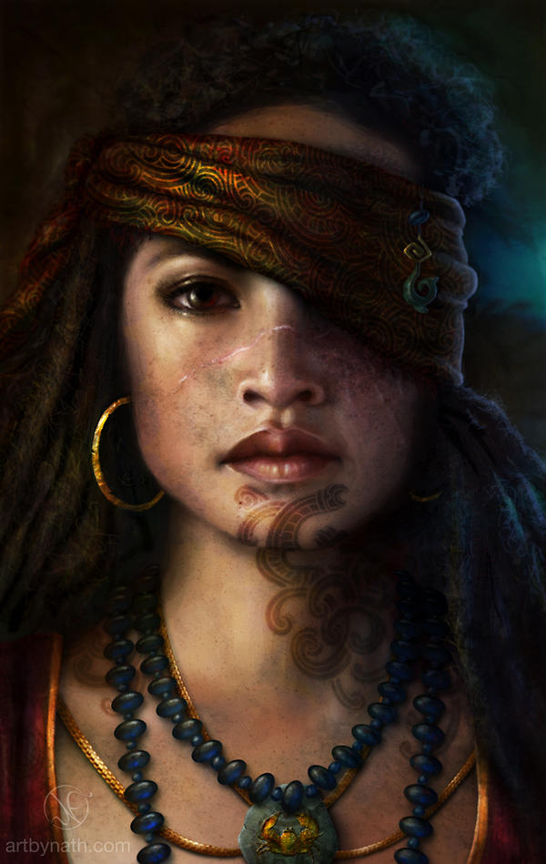 Maori Pirate Princess by ArtByNath