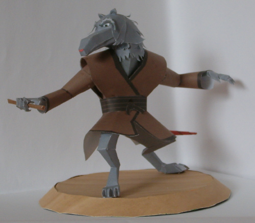 Papermodell: Master Splinter by WhiteRoo