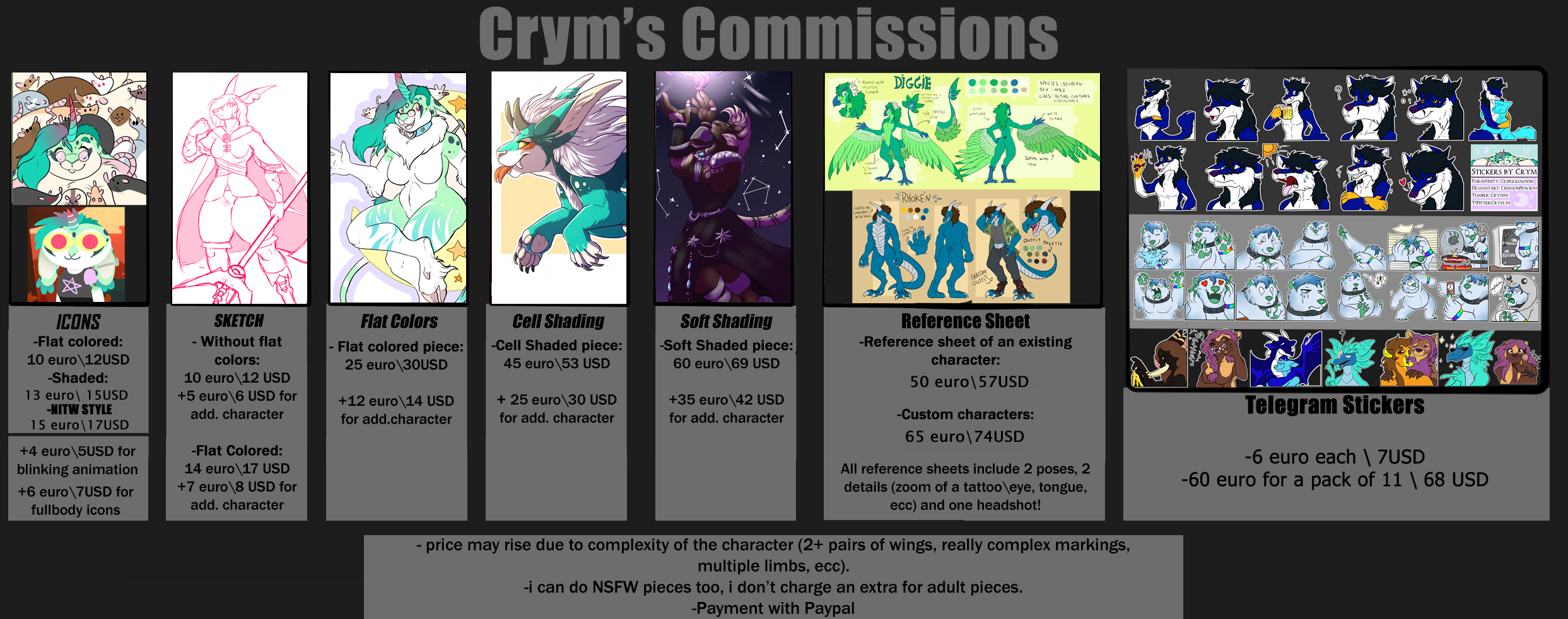 .:DIGITAL COMMISSIONS (OPENING ON THE 18TH):.