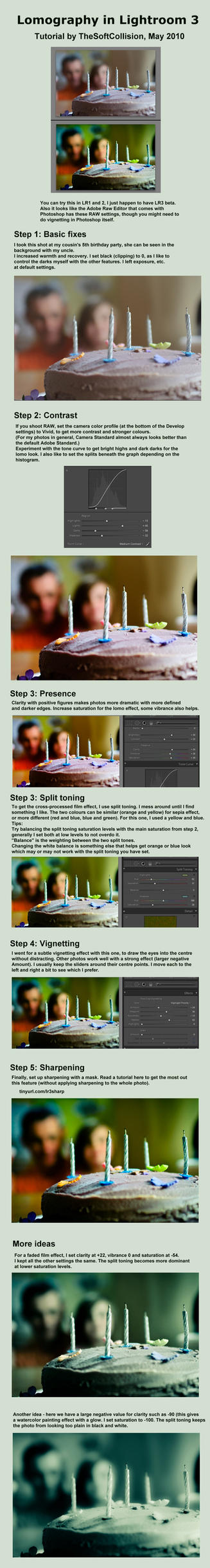 Lomo in Lightroom Tutorial by TheSoftCollision