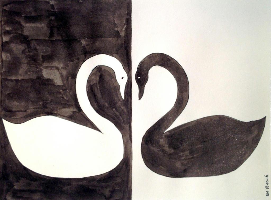 Day 18 - Mirror Swans by Lentebloesem