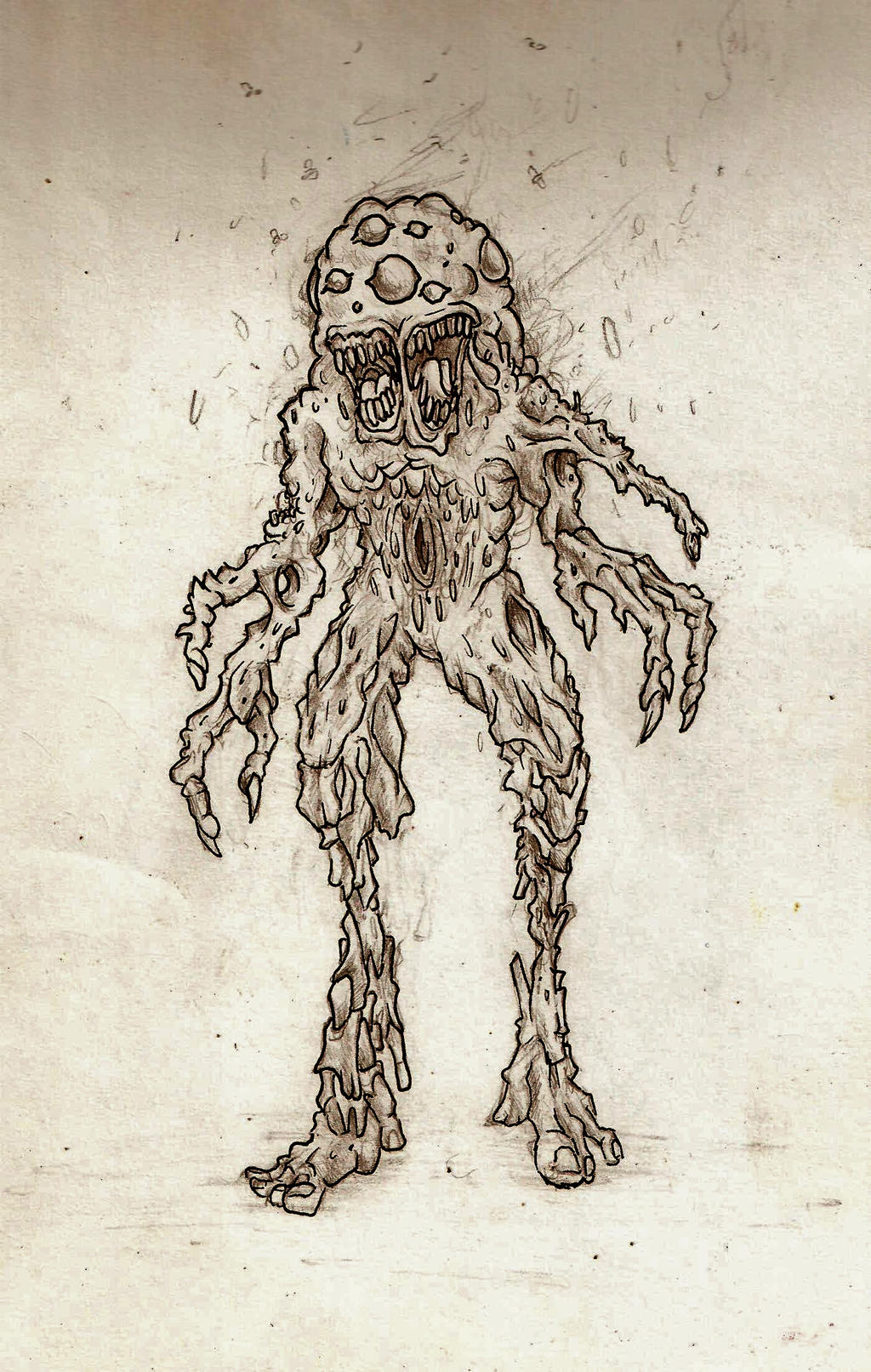 Putrid Mutant Pencil And Ink By 16bitghost On Deviantart