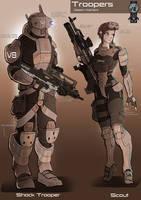 Trooper concept design Desert by EskarArt