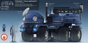 Moon Station Troop Transport by EskarArt
