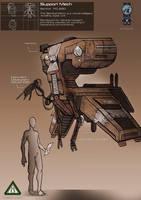 Sentinel repair robot by EskarArt