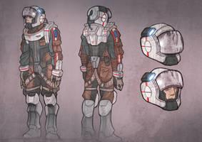 ISS Concept art Maintenance by EskarArt