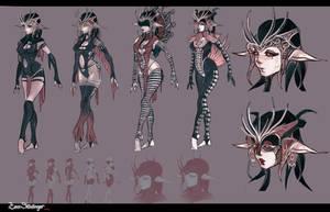 Demon girl concept art by EskarArt