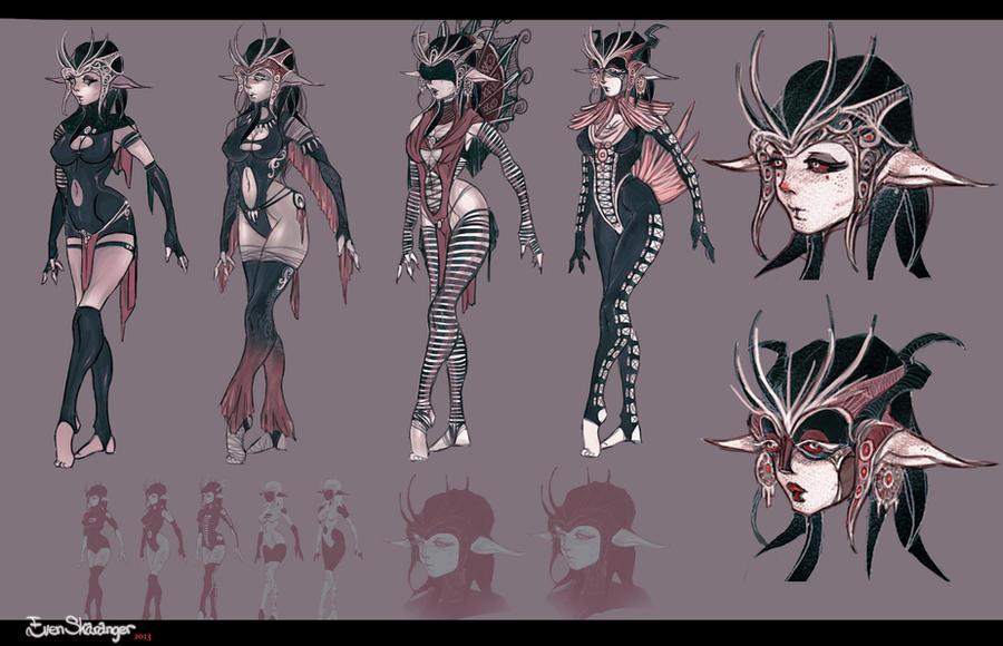 Demon Girl Concept Art By EskarArt On DeviantArt