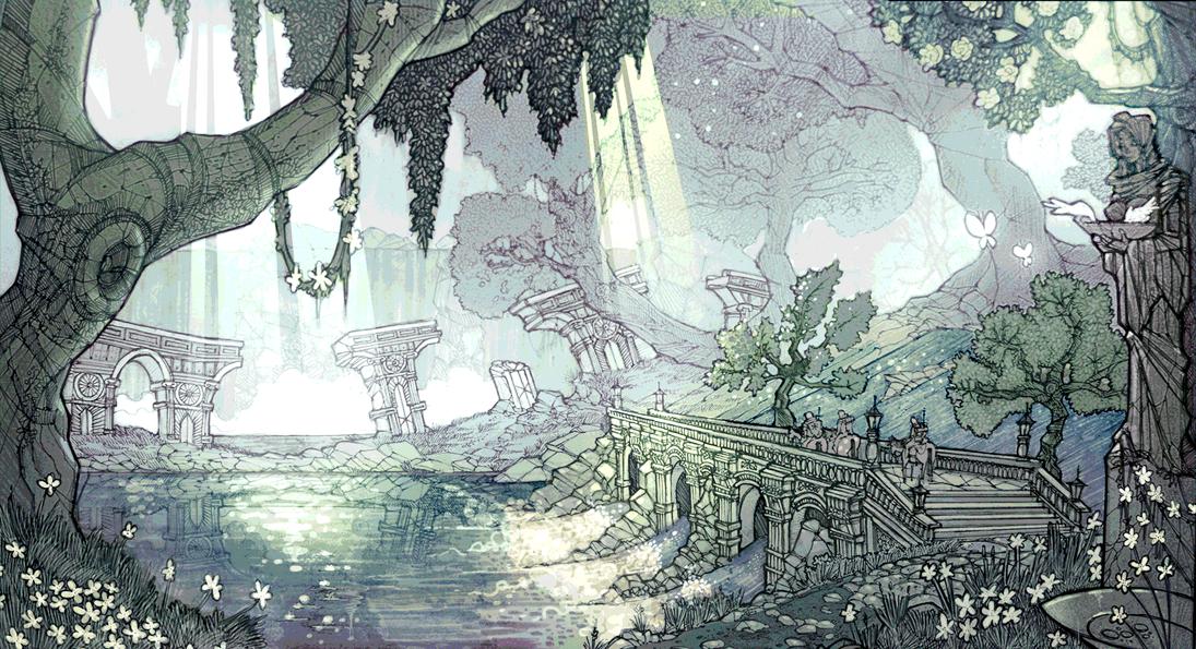 Summer forest by EskarArt