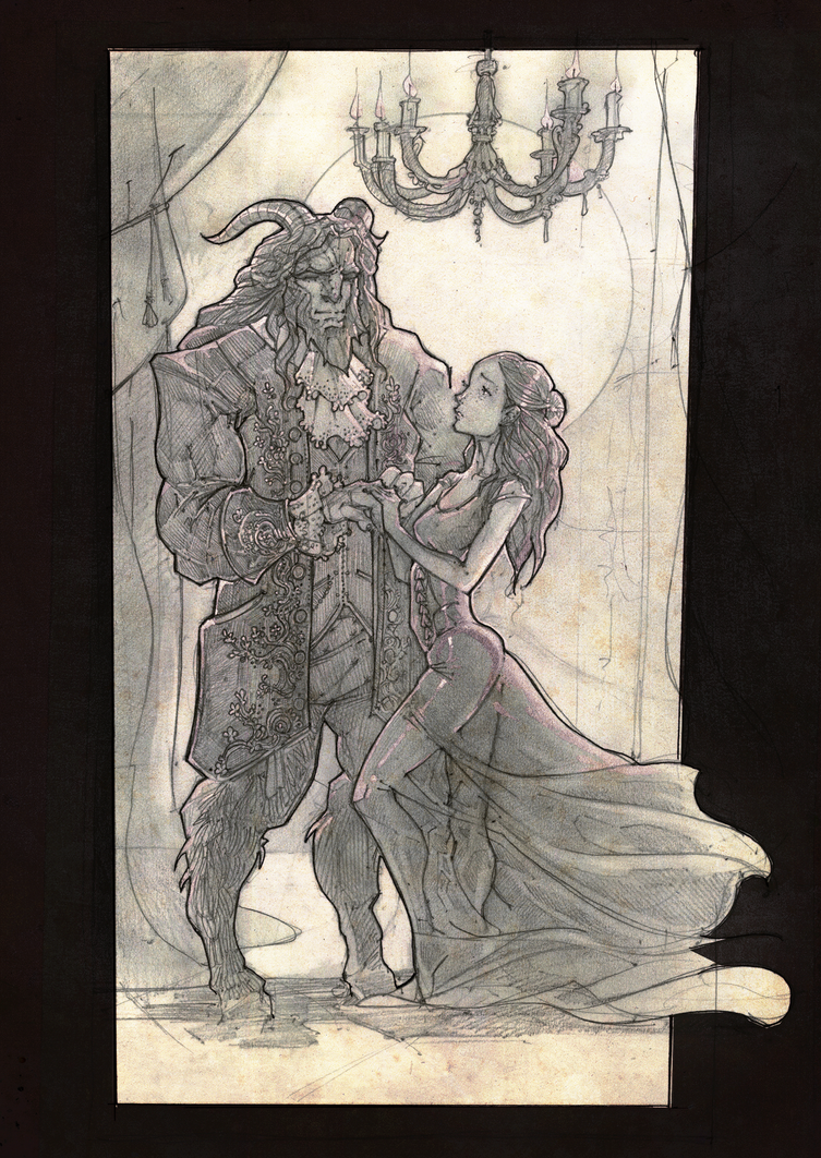 The Beauty and the Beast by EskarArt