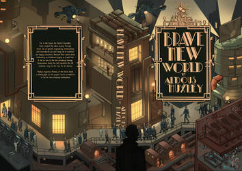 Brave New World by Aldous Huxley ( Book Cover ) by EskarArt