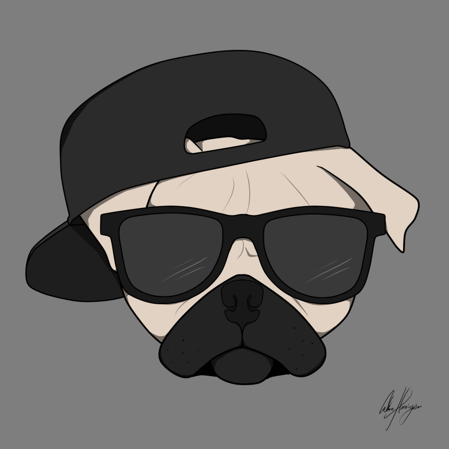 thug pug drawling images amp pictures   becuo