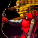 Archer and Reverse Flash fan art