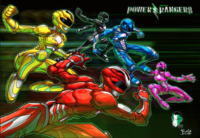 Power Rangers 2017 by TheMikidusBalox