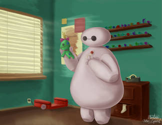 ''Don't Worry, I can fix you'' Baymax and Scrump by Jointhecreativeside
