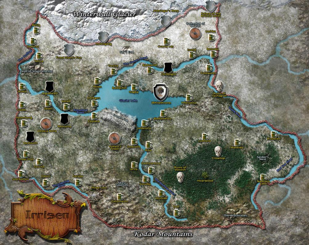 Map Of Irrisen By MarkonPhoenix ...