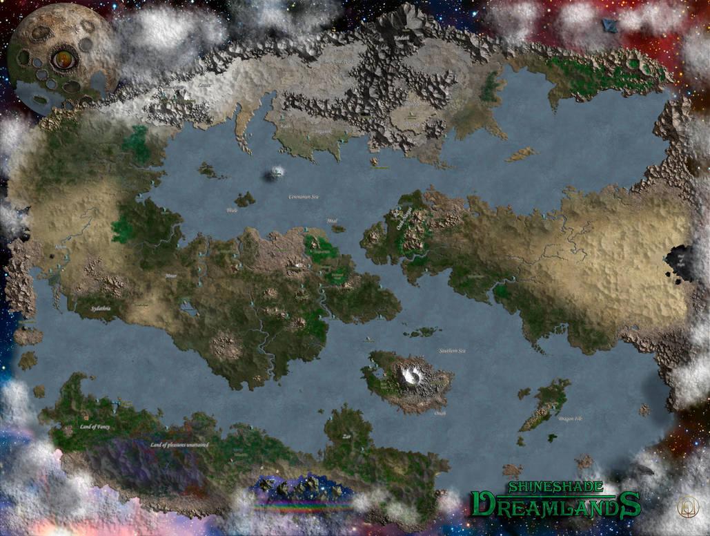 Shineshade Dreamlands Map By Markonphoenix On Deviantart