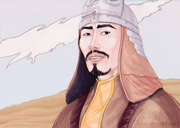 Akhtan in Kipchak armor by Ktoya