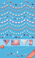 US Pennant Flag Brushes