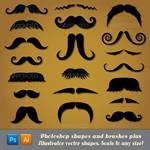 Moustache Potoshop Shapes and Brushes