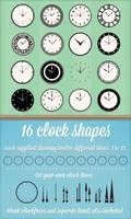 Clock Custom Shapes (Photoshop and Illustrator)