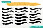 Marker Pen Brushes for Illustrator