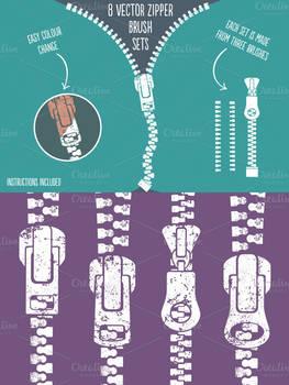 Zipper Brushes for Illustrator