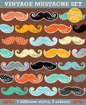 Vintage Mustaches for Photoshop and Illustrator