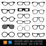 Spectacle Custom Shapes -Photoshop and Illustrator