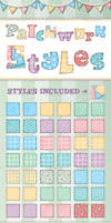 Patchwork text Styles for Illustrator