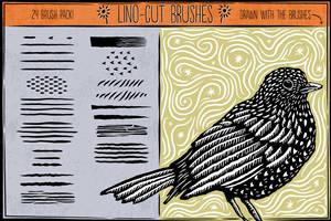 Lino Cut Brushes by Jeremychild