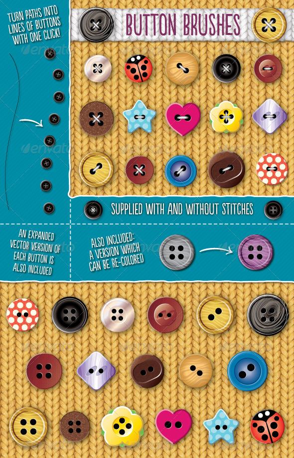 Button Brushes by Jeremychild