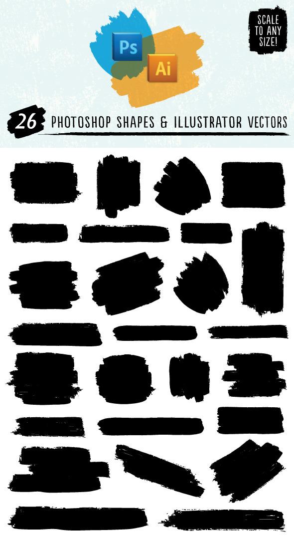 Paint Stroke Shapes by Jeremychild