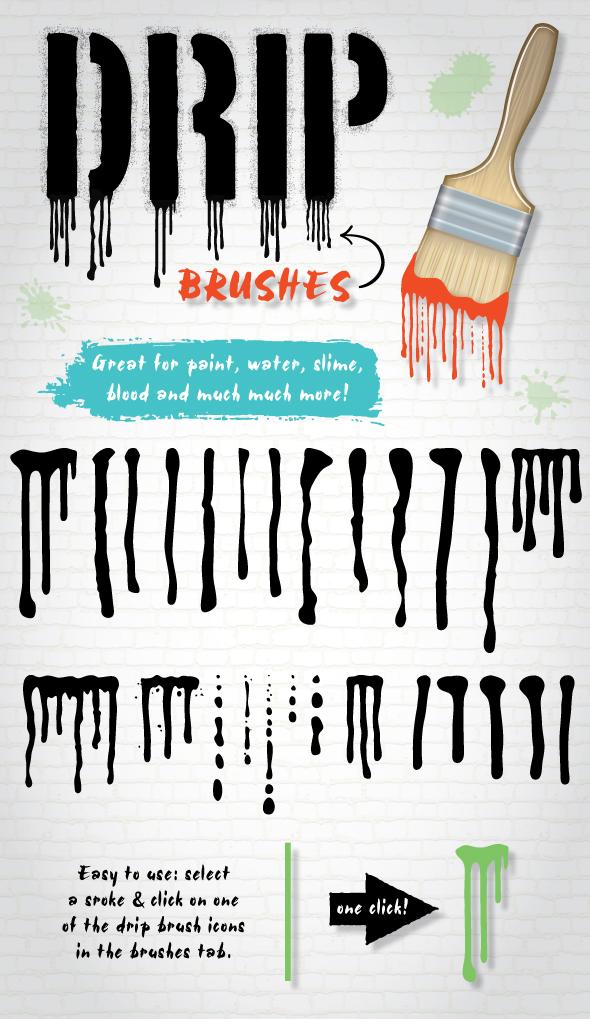 Drip Brushes (Illustrator) by Jeremychild