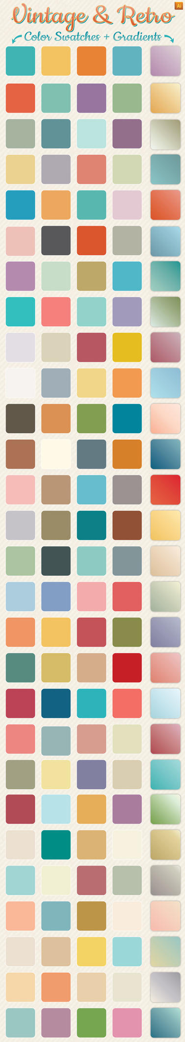 Vintage and Retro Gradients and Color Swatches by Jeremychild