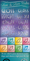 Glass and Gloss Text Styles
