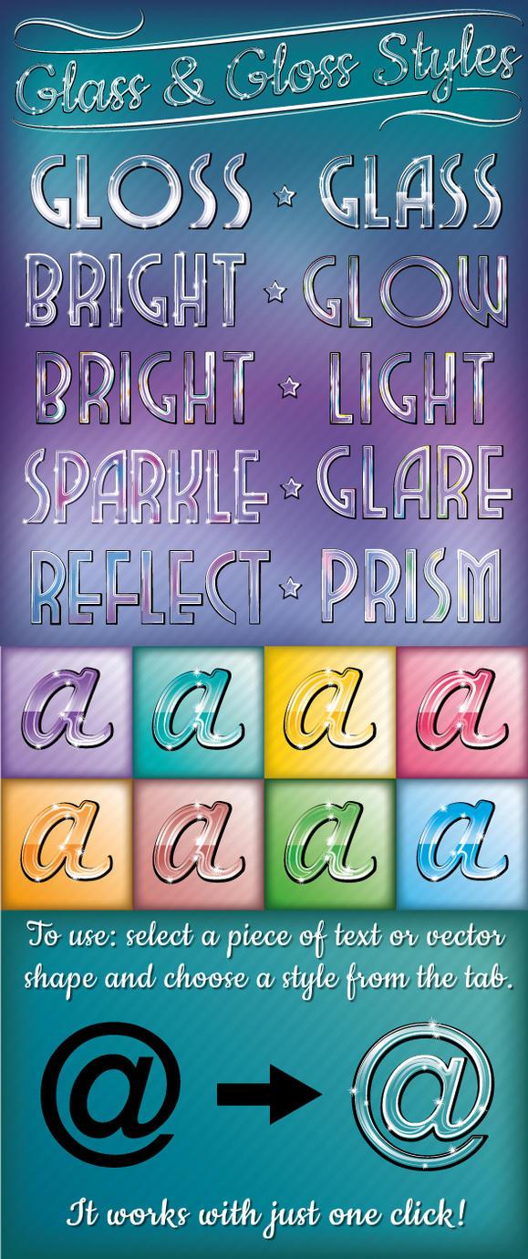 Glass and Gloss Text Styles by Jeremychild