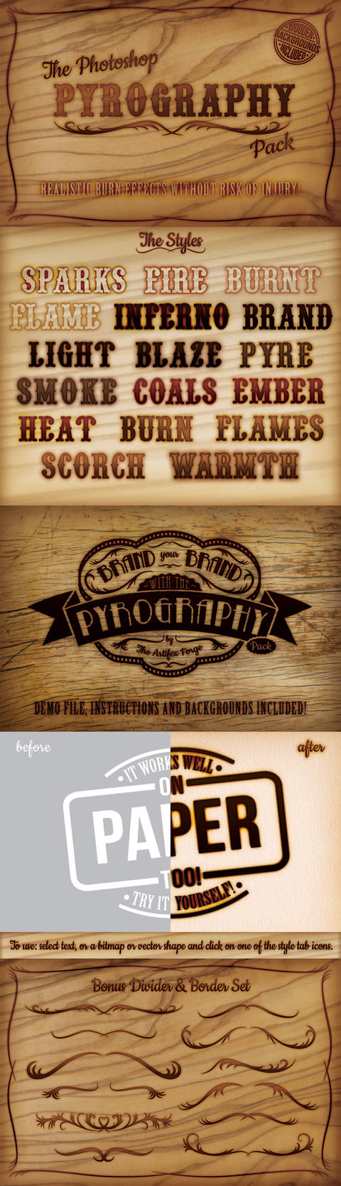 The Photoshop Pyrography Pack by Jeremychild