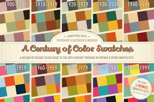 A Century of Color Swatches + Bonus