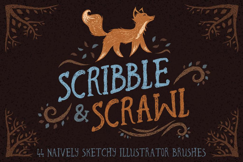 Scribble and Scrawl Illustrator Brushes by Jeremychild