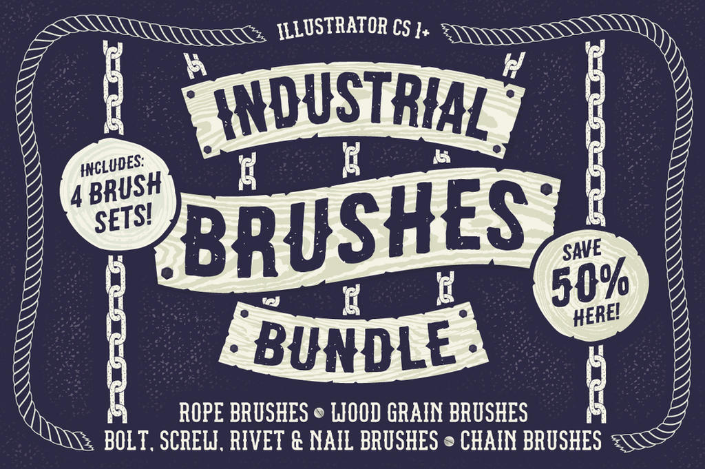 Industrial Brushes Bundle by Jeremychild