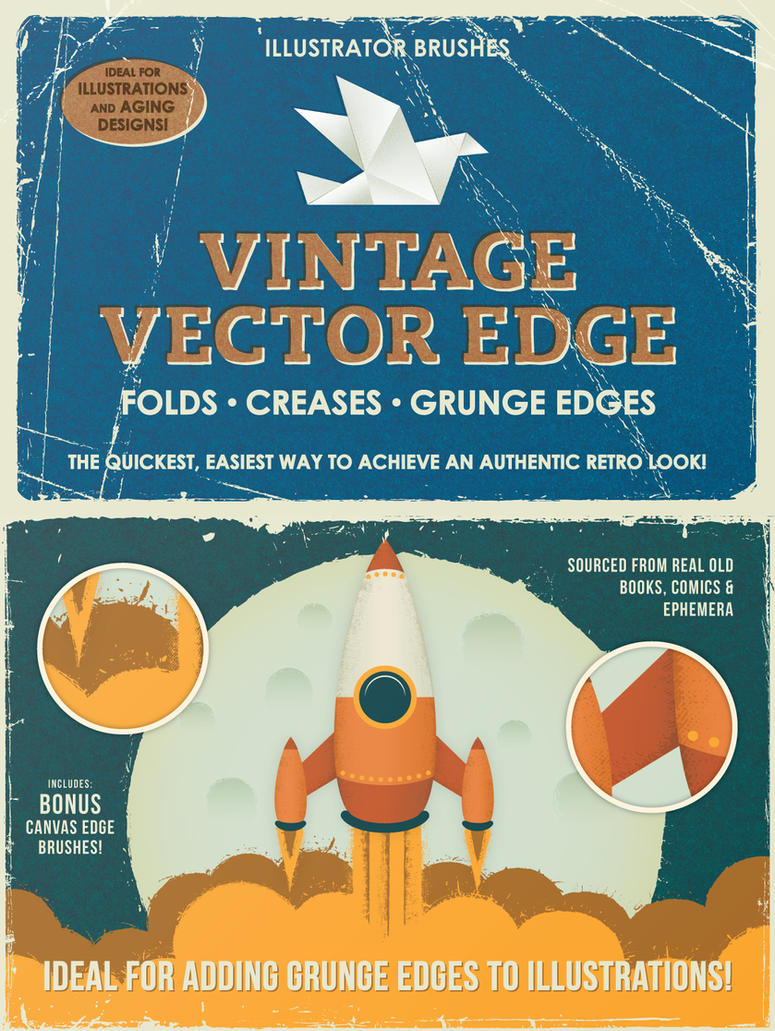 Vintage Vector Edge Brushes by Jeremychild